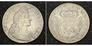 1 Ecu Reino de Francia (843-1791) Plata Luis XIV de Francia (1638-1715)