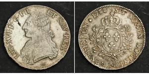 1 Ecu Kingdom of France (843-1791) Silber Ludwig XVI (1754 - 1793)