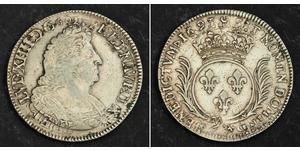 1 Ecu Kingdom of France (843-1791) Silber Ludwig XIV (1638-1715)