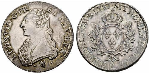 1 Ecu Kingdom of France (843-1791) Silber Ludwig XVI (1754 - 1793)