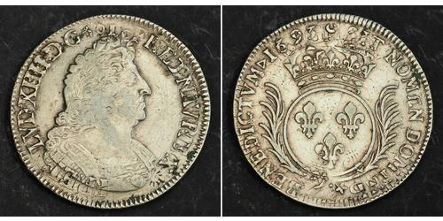 1 Ecu Kingdom of France (843-1791) Silber Ludwig XIV (1638-1715)