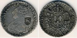1 Ecu Kingdom of France (843-1791) Silver Louis XVI of France (1754 - 1793)