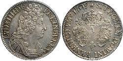 1 Ecu Kingdom of France (843-1791) Silver Louis XIV (1638-1715)