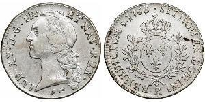 1 Ecu Kingdom of France (843-1791) Silver Louis XV of France(1710-1774)