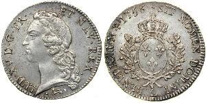 1 Ecu Kingdom of France (843-1791) Silver Louis XV of France(1710-1774)