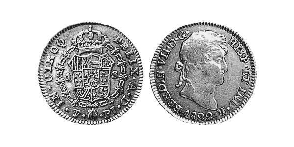 1 Escudo 玻利維亞 / 拉普拉塔总督辖区 (1776 - 1814) 金 费尔南多七世 (1784 - 1833)