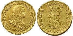 1 Escudo 秘鲁 金 费尔南多六世 (1713-1759)