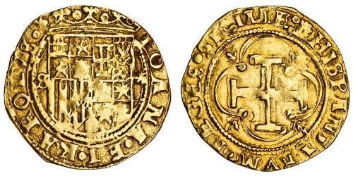 1 Escudo 西班牙哈布斯堡王朝 (1516 - 1700) 金