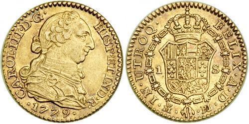 1 Escudo 西班牙 金 卡洛斯三世 (西班牙) (1716 -1788)