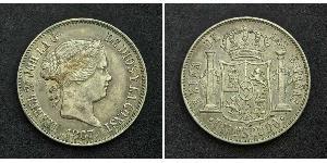 1 Escudo Spagna Argento Isabella II of Spain (1830- 1904)
