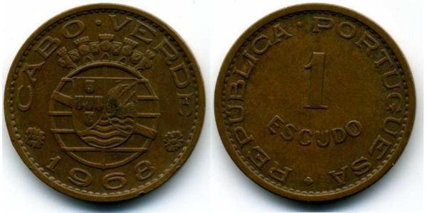 1 Escudo Portugal / Cape Verde (1456 - 1975) Bronze