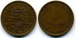 1 Escudo Portogallo / Cape Verde (1456 - 1975) Bronzo