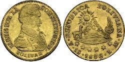 1 Escudo Bolivien (1825 - ) Gold Simon Bolivar (1783 - 1830)