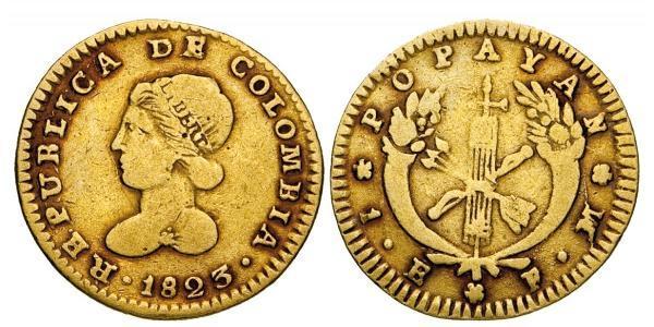 1 Escudo Großkolumbien (1819 - 1831) Gold