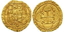 1 Escudo Habsburg Spain (1506 - 1700) Gold Charles V, Holy Roman Emperor (1500-1558)