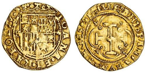 1 Escudo Habsburg Spain (1506 - 1700) Gold