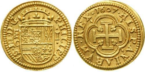1 Escudo Habsburg Spain (1506 - 1700) Gold Philipp III. von Spanien (1578-1621)