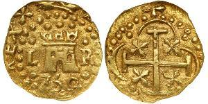 1 Escudo Peru Gold Ferdinand VI of Spain (1713-1759)