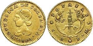 1 Escudo Republic of Colombia (1819 - 1831) Gold