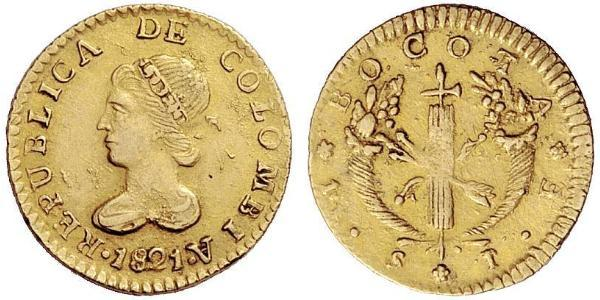 1 Escudo Republic of Colombia (1819 - 1831) Gold