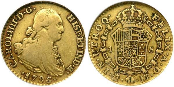 1 Escudo Spanisches Kolonialreich (1700 - 1808) Gold Karl IV (1748-1819)