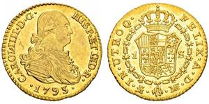 1 Escudo Spanish Empire (1700 - 1808) Gold Charles IV of Spain (1748-1819)