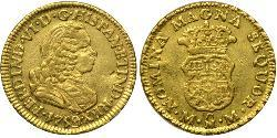 1 Escudo Spanish Mexico  / Kingdom of New Spain (1519 - 1821) Gold Ferdinand VI of Spain (1713-1759)