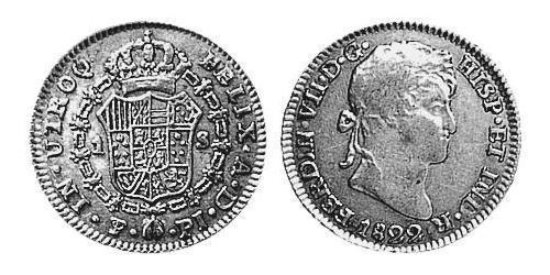 1 Escudo Viceroyalty of the Río de la Plata (1776 - 1814) / Bolivia Gold Ferdinand VII of Spain (1784-1833)