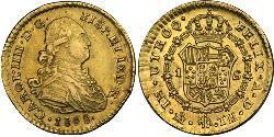 1 Escudo Vizekönigreich Neuspanien (1519 - 1821) Gold Karl IV (1748-1819)
