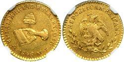 1 Escudo Centralist Republic of Mexico (1835 - 1846) Or