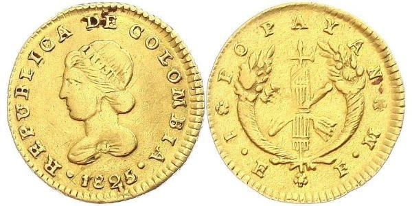 1 Escudo Grande Colombie (1819 - 1831) Or