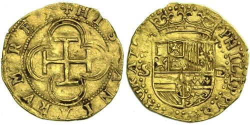 1 Escudo Habsburg Empire (1526-1804) / Spanien Or Philippe II d
