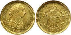 1 Escudo Cile Oro Carlo III di Spagna (1716 -1788)