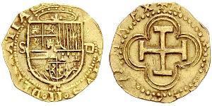 1 Escudo España / Habsburg Empire (1526-1804) Oro Felipe II de España (1527-1598)