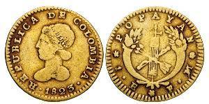 1 Escudo Gran Colombia (1819 - 1831) Oro