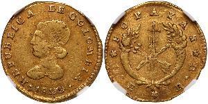 1 Escudo Grande Colombia (1819 - 1831) Oro
