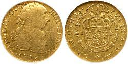 1 Escudo Guatemala Oro Carlos IV de España (1748-1819)