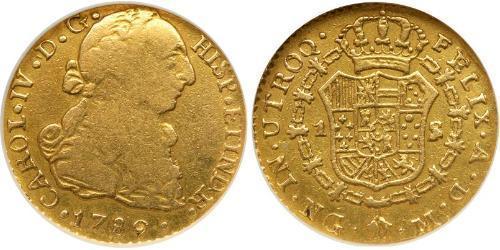 1 Escudo Guatemala Oro Carlo IV di Spagna (1748-1819)