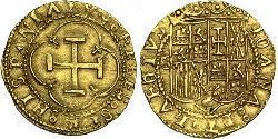 1 Escudo Habsburg Spain (1506 - 1700) / Sacro Imperio Romano (962-1806) Oro Carlos V, Emperador del Sacro Imperio Romano (1500-1558)