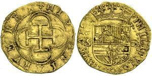1 Escudo Spagna / Monarchia asburgica (1526-1804) Oro Filippo II di Spagna (1527-1598)