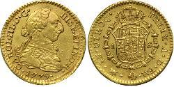 1 Escudo Vicereame della Nuova Spagna (1519 - 1821) Oro Carlo III di Spagna (1716 -1788)