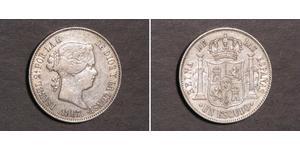 1 Escudo España Plata Isabella II of Spain (1830- 1904)