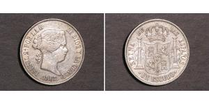 1 Escudo Spain Silver Isabella II of Spain (1830- 1904)