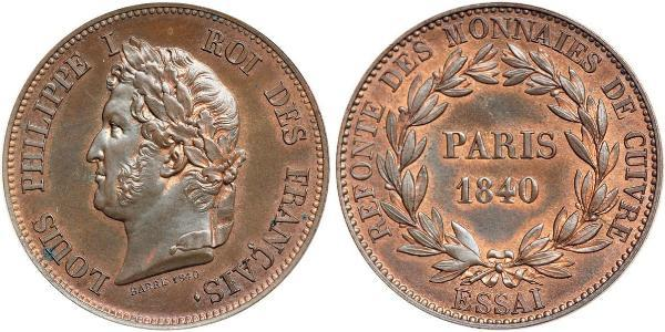 1 Essa July Monarchy (1830-1848) Bronze Louis Philippe I of France (1773 -1850)