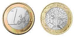 1 Euro Cinquième République (1958 - ) Bilame