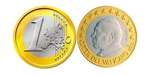 1 Euro 梵蒂冈 Bimetal 若望·保祿二世 (1920 - 2005)