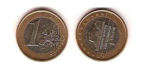 1 Euro Kingdom of the Netherlands (1815 - ) Bimetal