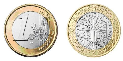 1 Euro Quinta República Francesa (1958 - ) Bimetal