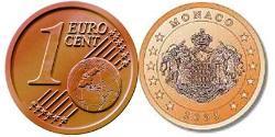 1 Eurocent Mónaco Cobre/Acero