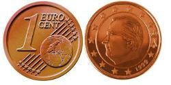 1 Eurocent Belgium Steel/Copper Albert II of Belgium